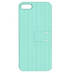 Classy Tiffany Aqua Blue Sailor Stripes Apple Iphone 5 Hardshell Case With Stand by PodArtist