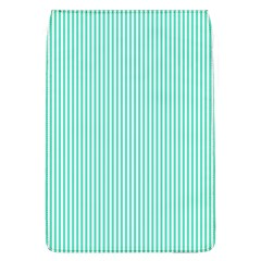 Classy Tiffany Aqua Blue Sailor Stripes Flap Covers (l)  by PodArtist