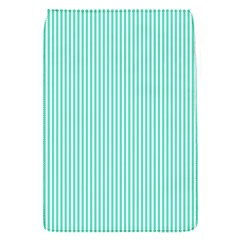 Classy Tiffany Aqua Blue Sailor Stripes Flap Covers (s)  by PodArtist