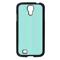 Classy Tiffany Aqua Blue Sailor Stripes Samsung Galaxy S4 I9500/ I9505 Case (black) by PodArtist