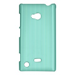 Classy Tiffany Aqua Blue Sailor Stripes Nokia Lumia 720 by PodArtist