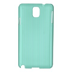 Classy Tiffany Aqua Blue Sailor Stripes Samsung Galaxy Note 3 N9005 Hardshell Case by PodArtist