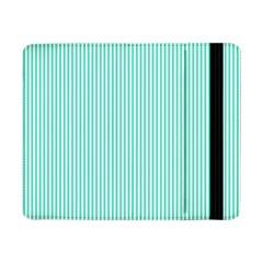 Classy Tiffany Aqua Blue Sailor Stripes Samsung Galaxy Tab Pro 8 4  Flip Case by PodArtist