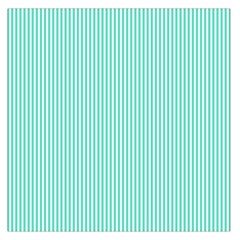 Classy Tiffany Aqua Blue Sailor Stripes Large Satin Scarf (square) by PodArtist