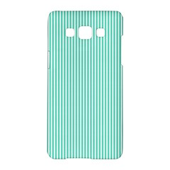 Classy Tiffany Aqua Blue Sailor Stripes Samsung Galaxy A5 Hardshell Case  by PodArtist