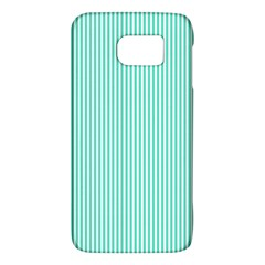 Classy Tiffany Aqua Blue Sailor Stripes Galaxy S6 by PodArtist