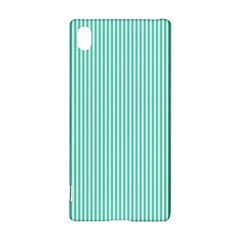 Classy Tiffany Aqua Blue Sailor Stripes Sony Xperia Z3+ by PodArtist