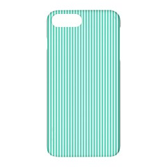 Classy Tiffany Aqua Blue Sailor Stripes Apple Iphone 7 Plus Hardshell Case by PodArtist