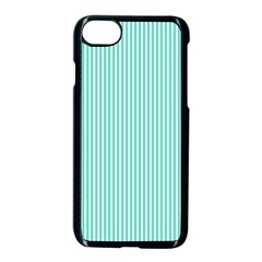 Classy Tiffany Aqua Blue Sailor Stripes Apple Iphone 7 Seamless Case (black) by PodArtist