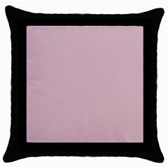 Baby Pink Stitched And Quilted Pattern Throw Pillow Case (black) by PodArtist