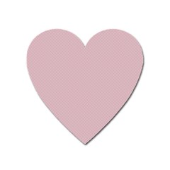 Baby Pink Stitched And Quilted Pattern Heart Magnet by PodArtist