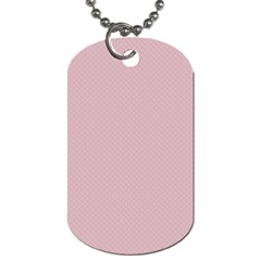 Baby Pink Stitched And Quilted Pattern Dog Tag (two Sides) by PodArtist