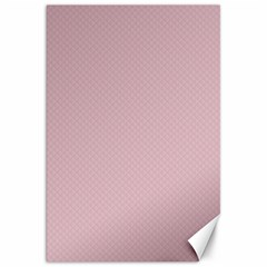 Baby Pink Stitched And Quilted Pattern Canvas 20  X 30   by PodArtist