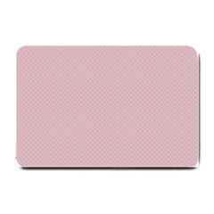Baby Pink Stitched And Quilted Pattern Small Doormat  by PodArtist