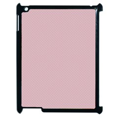 Baby Pink Stitched And Quilted Pattern Apple Ipad 2 Case (black) by PodArtist