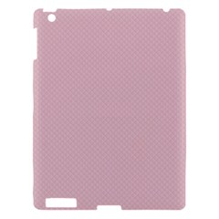 Baby Pink Stitched And Quilted Pattern Apple Ipad 3/4 Hardshell Case by PodArtist