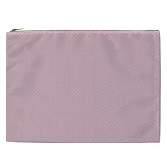 Baby Pink Stitched And Quilted Pattern Cosmetic Bag (xxl)  by PodArtist