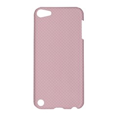 Baby Pink Stitched And Quilted Pattern Apple Ipod Touch 5 Hardshell Case by PodArtist