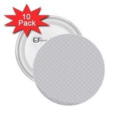 Bright White Stitched And Quilted Pattern 2 25  Buttons (10 Pack)  by PodArtist