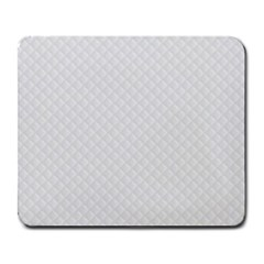 Bright White Stitched And Quilted Pattern Large Mousepads by PodArtist