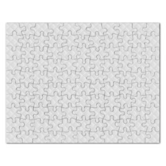 Bright White Stitched And Quilted Pattern Rectangular Jigsaw Puzzl by PodArtist