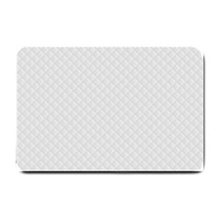 Bright White Stitched And Quilted Pattern Small Doormat  by PodArtist