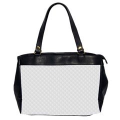 Bright White Stitched And Quilted Pattern Office Handbags (2 Sides)  by PodArtist
