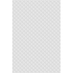 Bright White Stitched And Quilted Pattern 5 5  X 8 5  Notebooks by PodArtist
