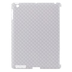 Bright White Stitched And Quilted Pattern Apple Ipad 3/4 Hardshell Case (compatible With Smart Cover) by PodArtist