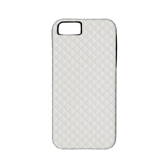 Bright White Stitched And Quilted Pattern Apple Iphone 5 Classic Hardshell Case (pc+silicone) by PodArtist