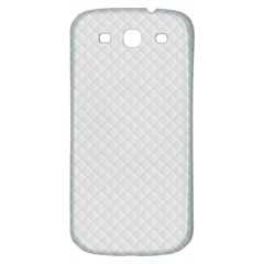 Bright White Stitched And Quilted Pattern Samsung Galaxy S3 S Iii Classic Hardshell Back Case by PodArtist
