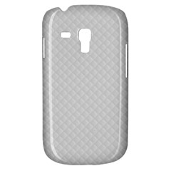 Bright White Stitched And Quilted Pattern Galaxy S3 Mini by PodArtist