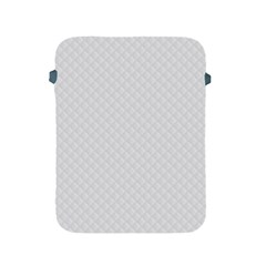 Bright White Stitched And Quilted Pattern Apple Ipad 2/3/4 Protective Soft Cases by PodArtist