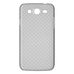 Bright White Stitched And Quilted Pattern Samsung Galaxy Mega 5 8 I9152 Hardshell Case  by PodArtist