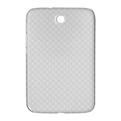 Bright White Stitched And Quilted Pattern Samsung Galaxy Note 8 0 N5100 Hardshell Case  by PodArtist