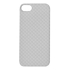 Bright White Stitched And Quilted Pattern Apple Iphone 5s/ Se Hardshell Case by PodArtist