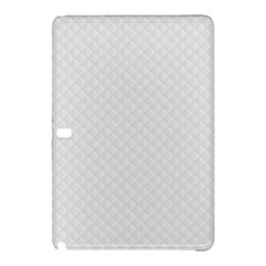 Bright White Stitched And Quilted Pattern Samsung Galaxy Tab Pro 12 2 Hardshell Case by PodArtist