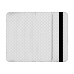 Bright White Stitched And Quilted Pattern Samsung Galaxy Tab Pro 8 4  Flip Case by PodArtist