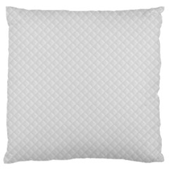 Bright White Stitched And Quilted Pattern Standard Flano Cushion Case (two Sides) by PodArtist