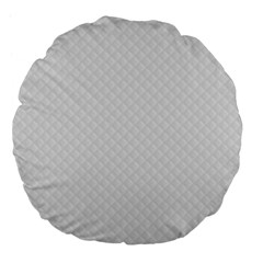 Bright White Stitched And Quilted Pattern Large 18  Premium Flano Round Cushions by PodArtist