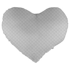 Bright White Stitched And Quilted Pattern Large 19  Premium Flano Heart Shape Cushions by PodArtist