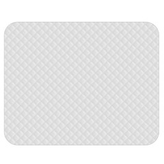 Bright White Stitched And Quilted Pattern Double Sided Flano Blanket (medium)  by PodArtist