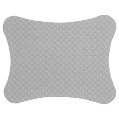 Bright White Stitched And Quilted Pattern Jigsaw Puzzle Photo Stand (bow) by PodArtist
