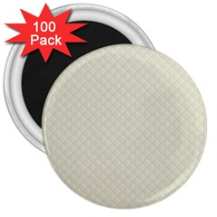 Rich Cream Stitched And Quilted Pattern 3  Magnets (100 Pack) by PodArtist