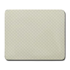 Rich Cream Stitched And Quilted Pattern Large Mousepads by PodArtist