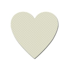 Rich Cream Stitched And Quilted Pattern Heart Magnet by PodArtist
