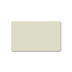 Rich Cream Stitched And Quilted Pattern Magnet (name Card) by PodArtist