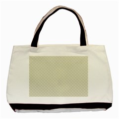 Rich Cream Stitched And Quilted Pattern Basic Tote Bag by PodArtist