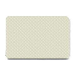 Rich Cream Stitched And Quilted Pattern Small Doormat  by PodArtist