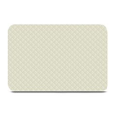 Rich Cream Stitched And Quilted Pattern Plate Mats by PodArtist